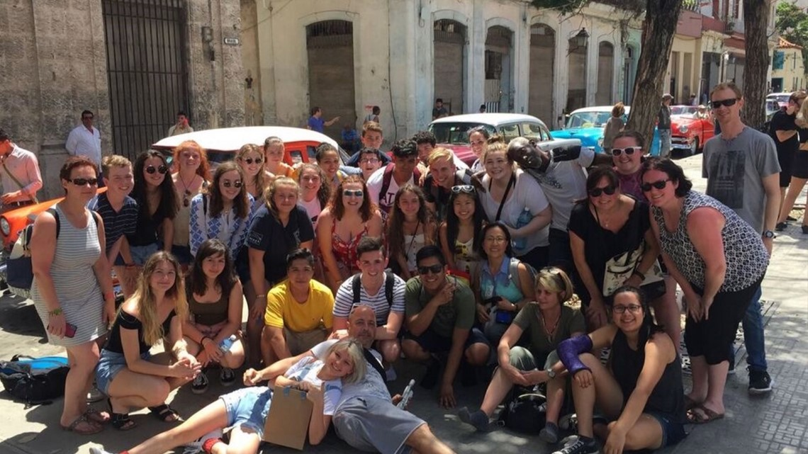 More group shots in Old Havana.