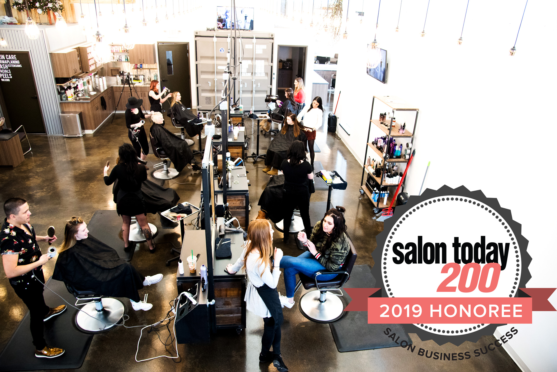 A YEAR OF THREE - 3 YEARS IN OUR NEW SPACE // 3 CONSECUTIVE YEARS WINNING SALON 200 AWARDS