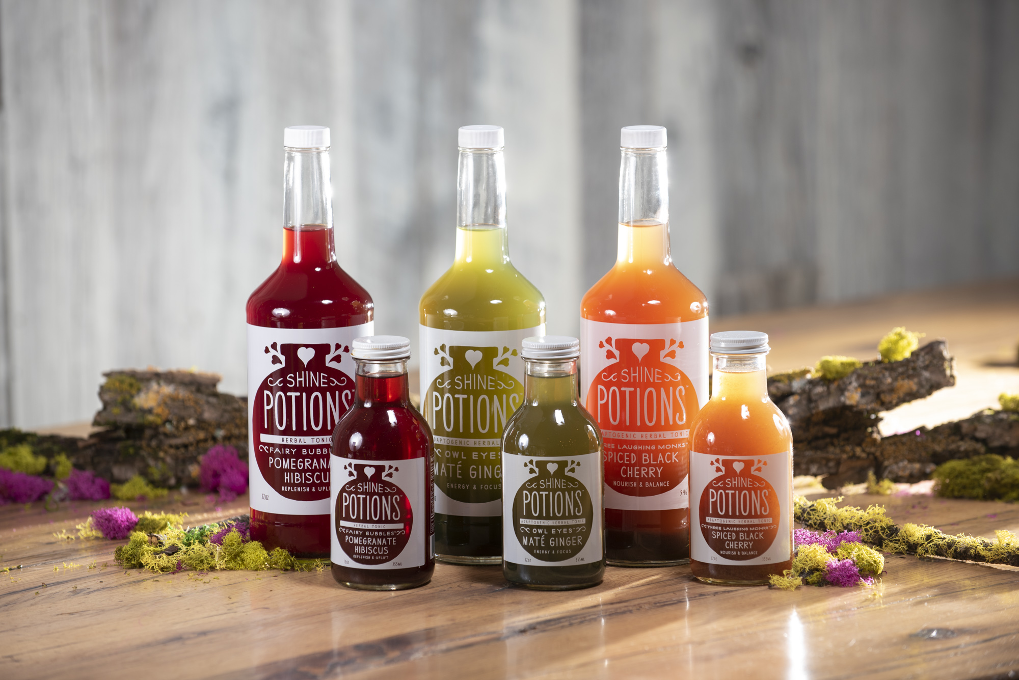 Shine Potions…. A Nourishing Ready to drink herbal beverage that helps you tap into the Magic Within…..