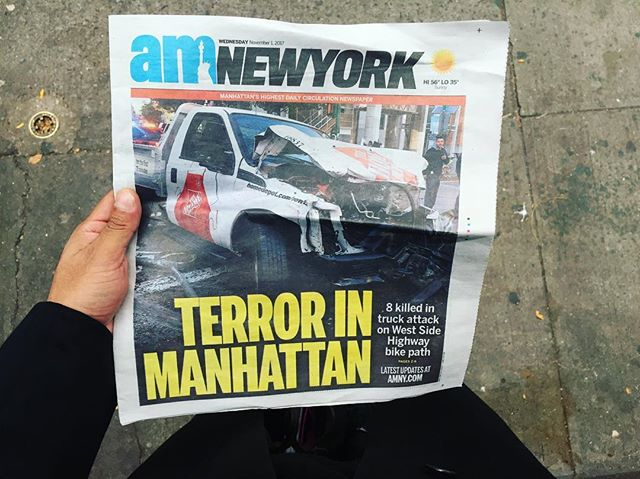 I never post anger on my feed but this is down right disgusting. This monster took innocent lives and casted a cloud on a day that should have been for the kids. Violence will never be the answer if we want to move forward as human beings, New York City doesn't tolerate that shit. My sympathies goes out to those who lost love ones yesterday.  #weareallequal