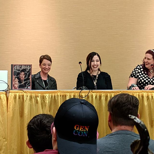 The #UncagedAnthology panel was so amazing! ♥️♥️♥️ #GenCon
