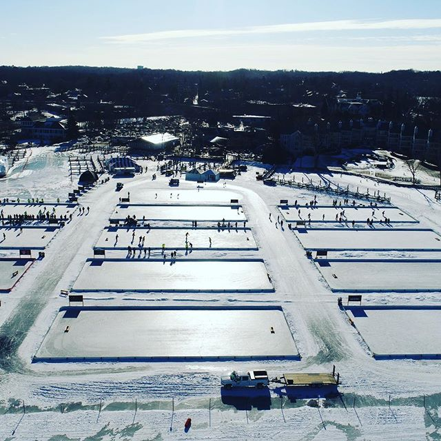 Pond hockey at Maynard's in Excelsior