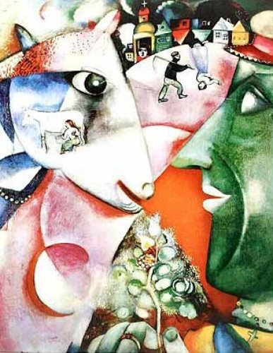 """""""I and the Village"""" by Marc Chagall"""