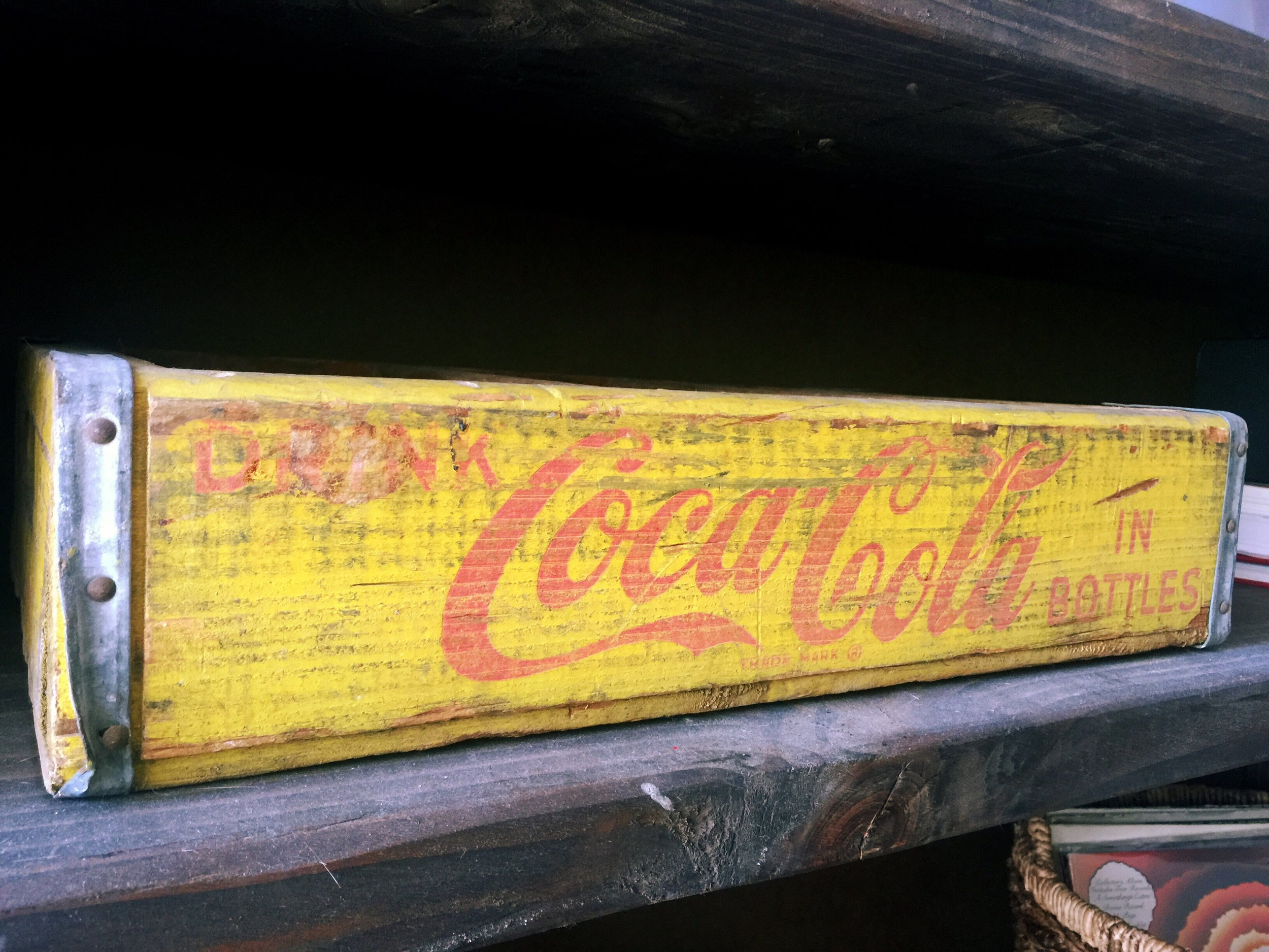 Coca-Cola box, found in abandoned factory