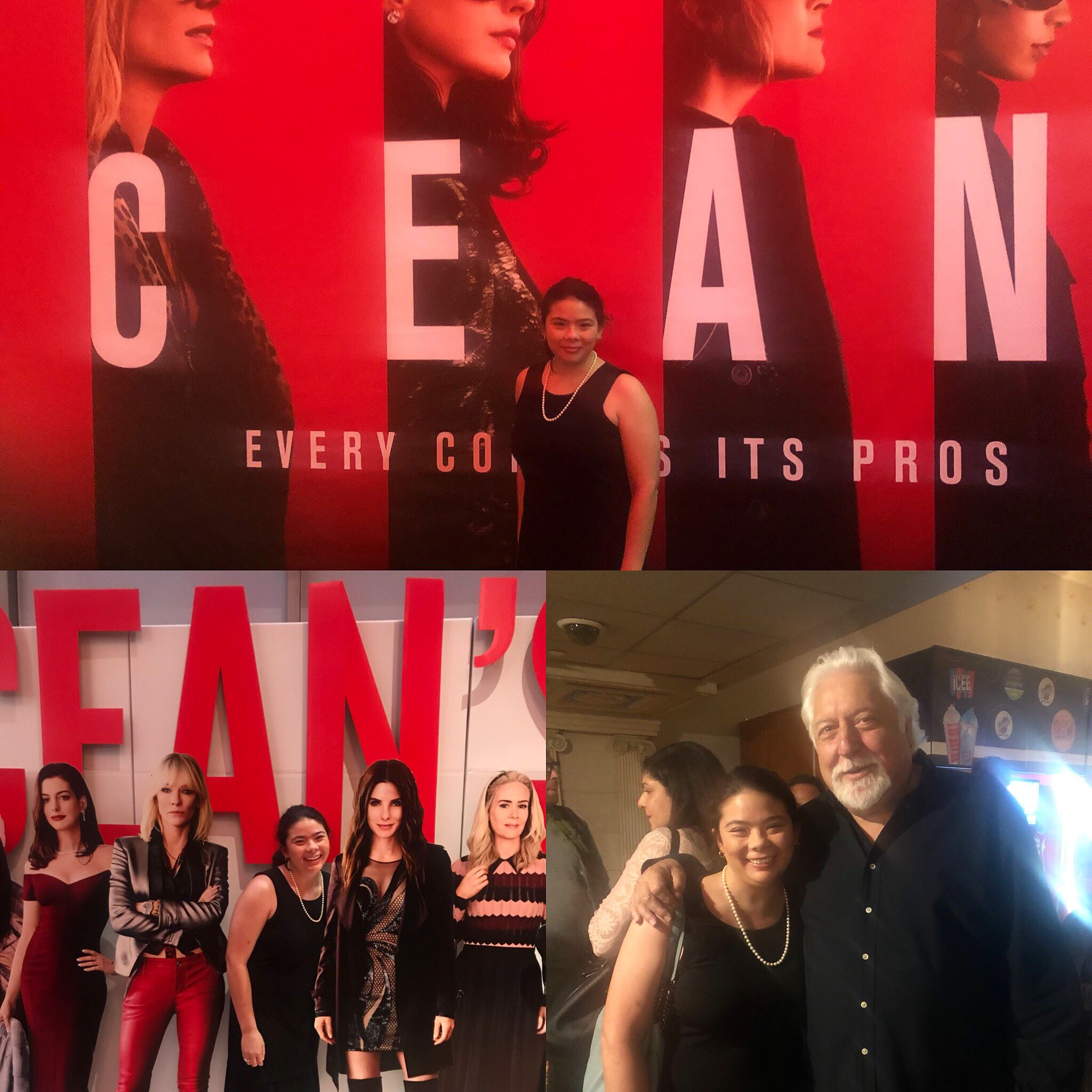 - Last year, I was on a closed set with the amazing Sandra Bullock, director Gary Ross (Hunger Games), producer Mike Tadross (pictured), and some of the best crew members in the industry. Last night, I got to watch myself on the big screen at the Ocean's 8 premiere! So so grateful for the opportunity and honored to be a part of this extremely fun film! Dreams do come true! Go see Ocean's 8!