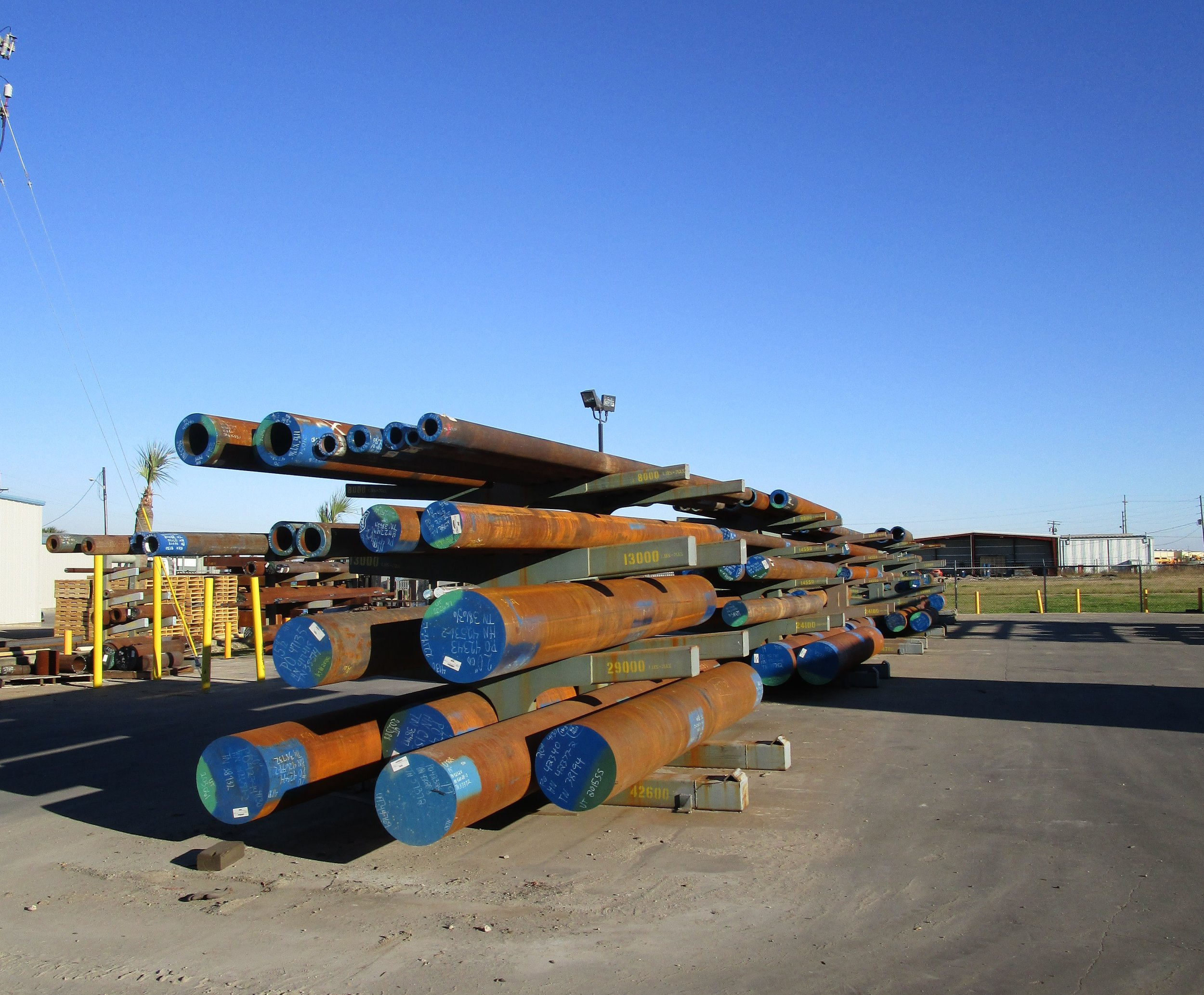 We maintain a large inventory of raw material at our facility to expedite your job into production.