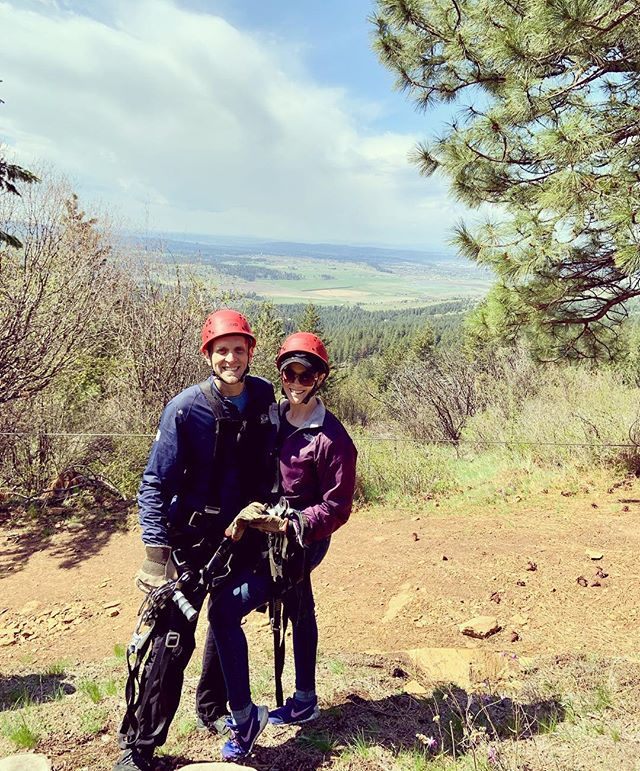 My 35th bday celebration continued today with Zip Lining! So much fun, what a beautiful day! 🌲