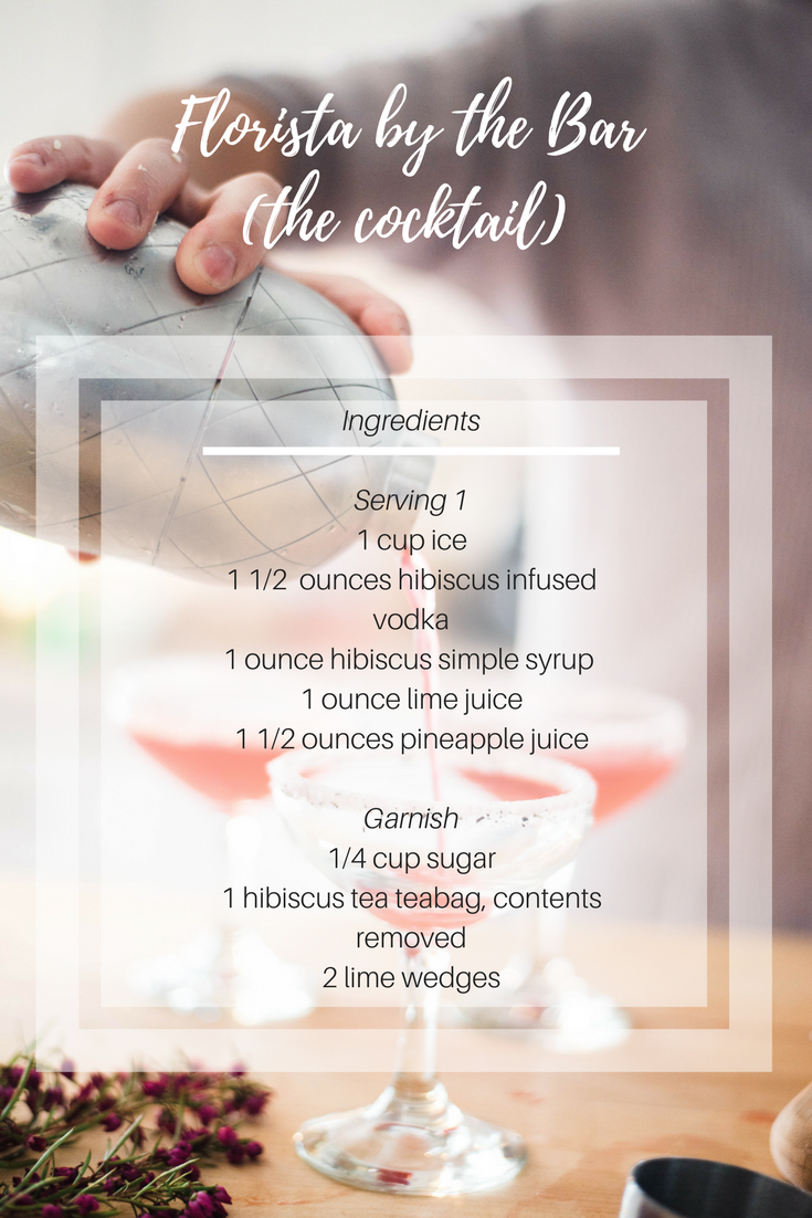 Florista By the Bar cocktail recipe card