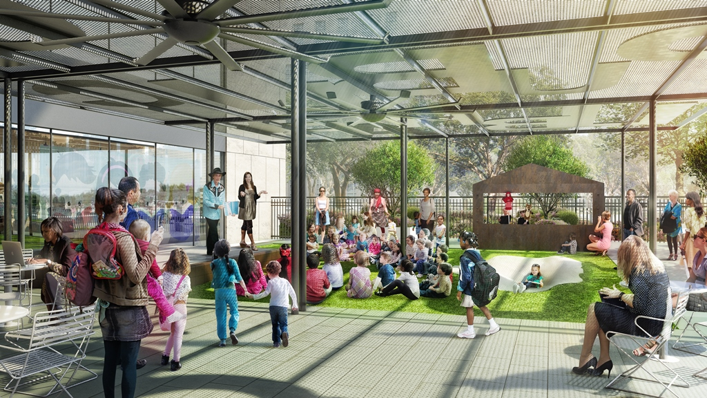 Case for Support - The Barbara Bush Literacy Plaza capital campaign has two phases. The HPL Foundation completed the $1,578,474 fundraising for Phase One in 2016. Construction began in September for Phase One and was completed in 2017.