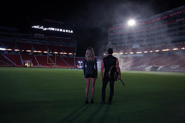 "We're BEYOND excited to tell you that we are collaborating with the @49ers on our song ""Hail Mary""! We are so honored that it is going to be a part of their season this year and we can't wait to share more details with you soon!! Dream come true is an understatement!  #HailMary #NFL #NewsComingSoon #MusicMonday @nfl"