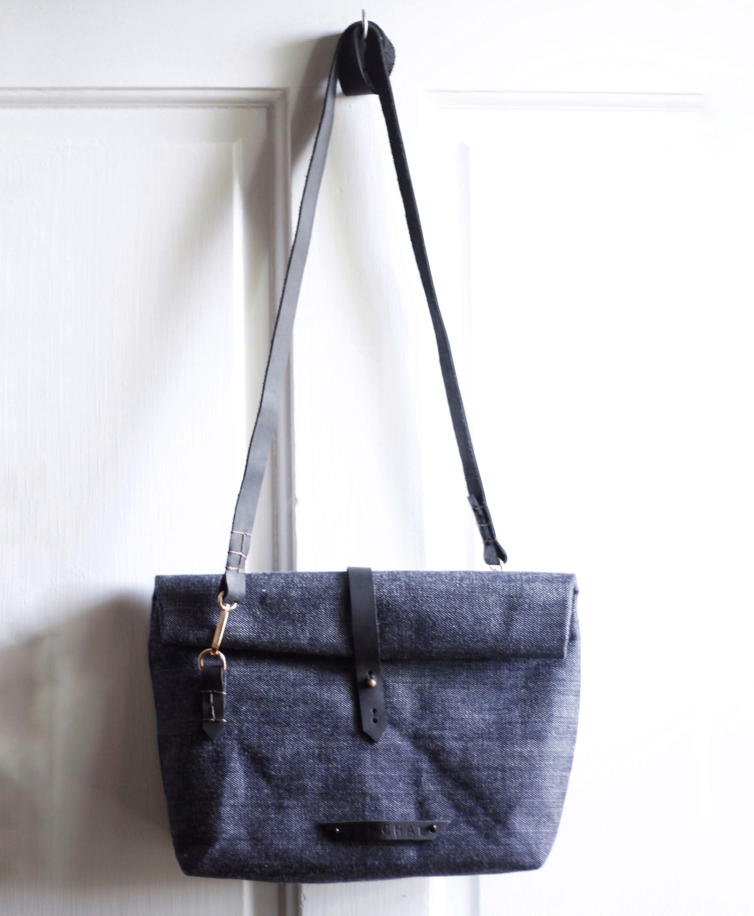 Mini Selvedge Denim Bag $75