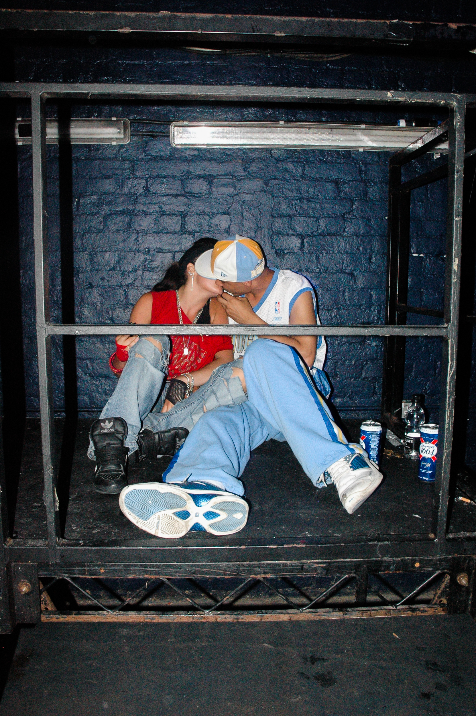 Kissing Ravers, Hysteria event in Vauxhall, 2005. By Georgina Cook