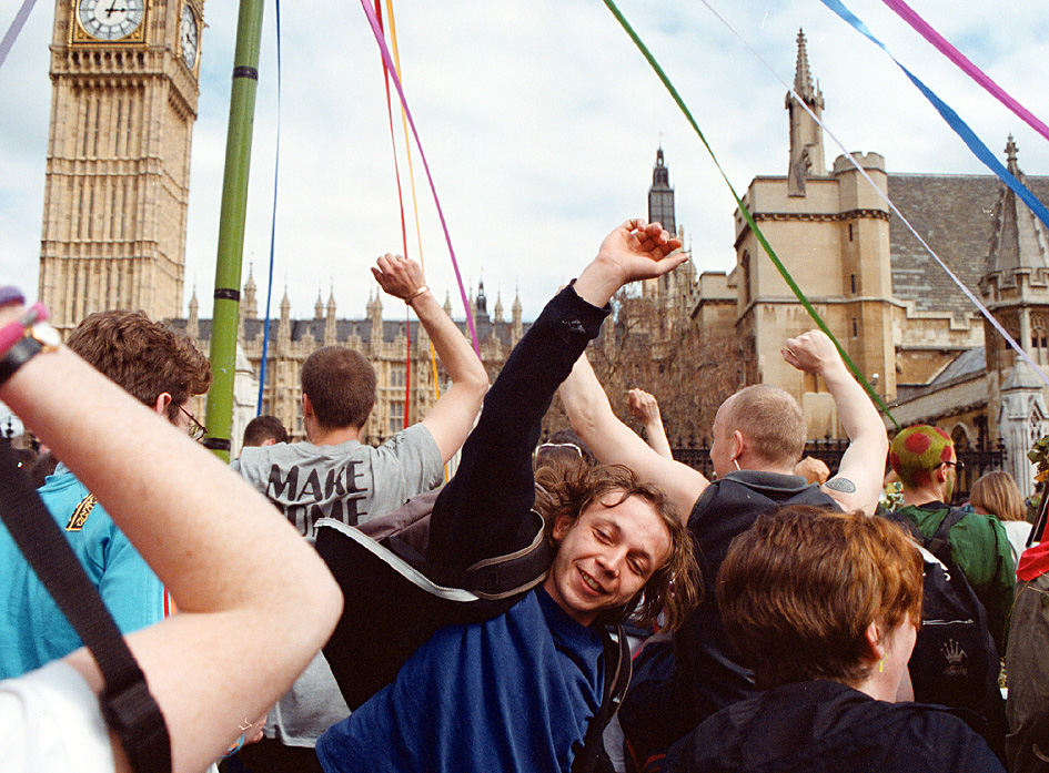May Day 2000 Protest by Georgina Cook