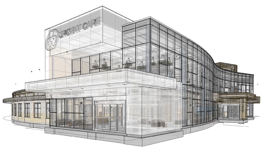 Revit - MILLER Architects and our consultants use the BIM software Revit for all of our projects. By modeling all components of a project in 3D, conflicts are identified and end users can