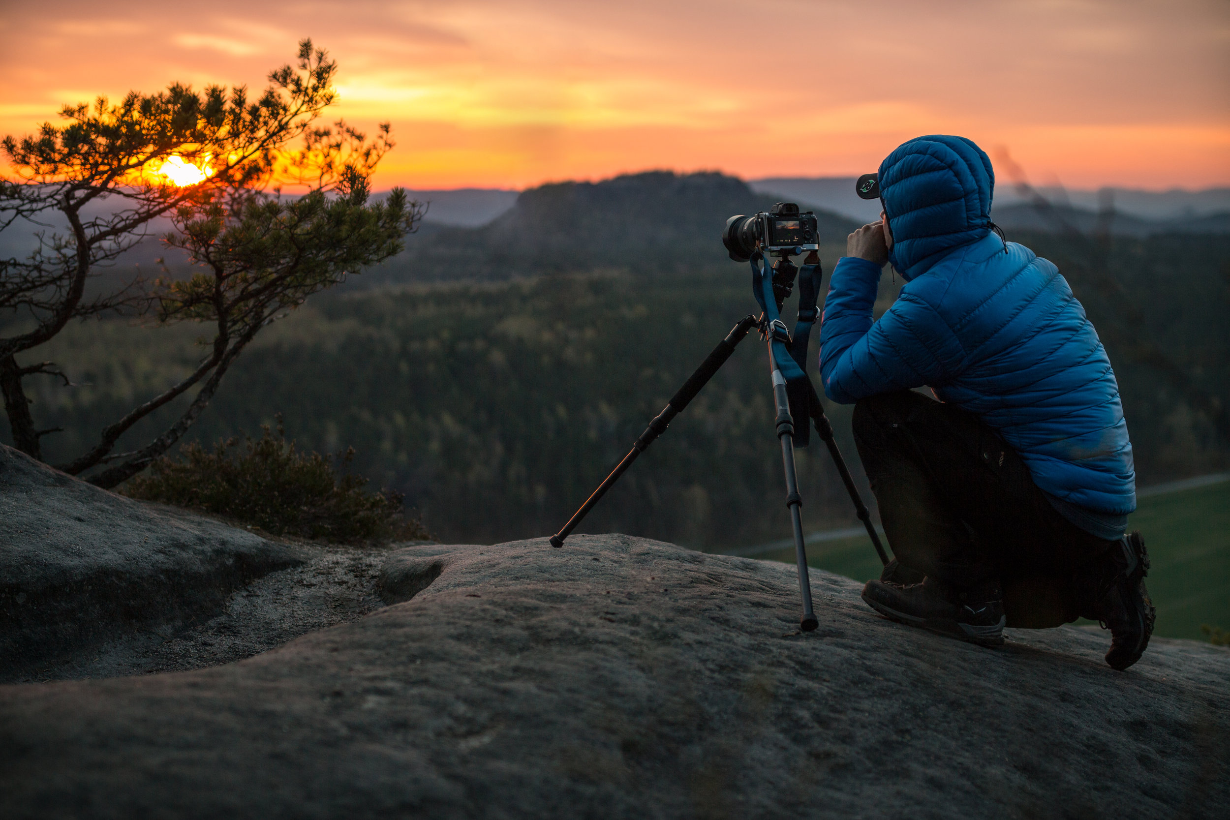 Kai Hornung photographing Saxon Switzerland, Germany (image by: Christian G.)