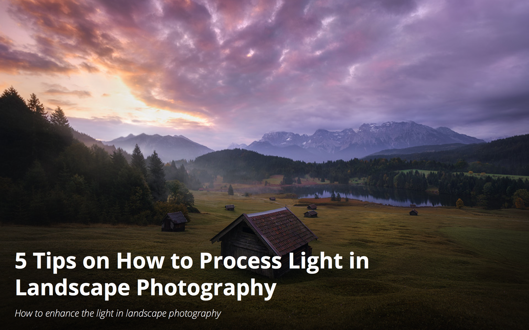 5 tips on working light