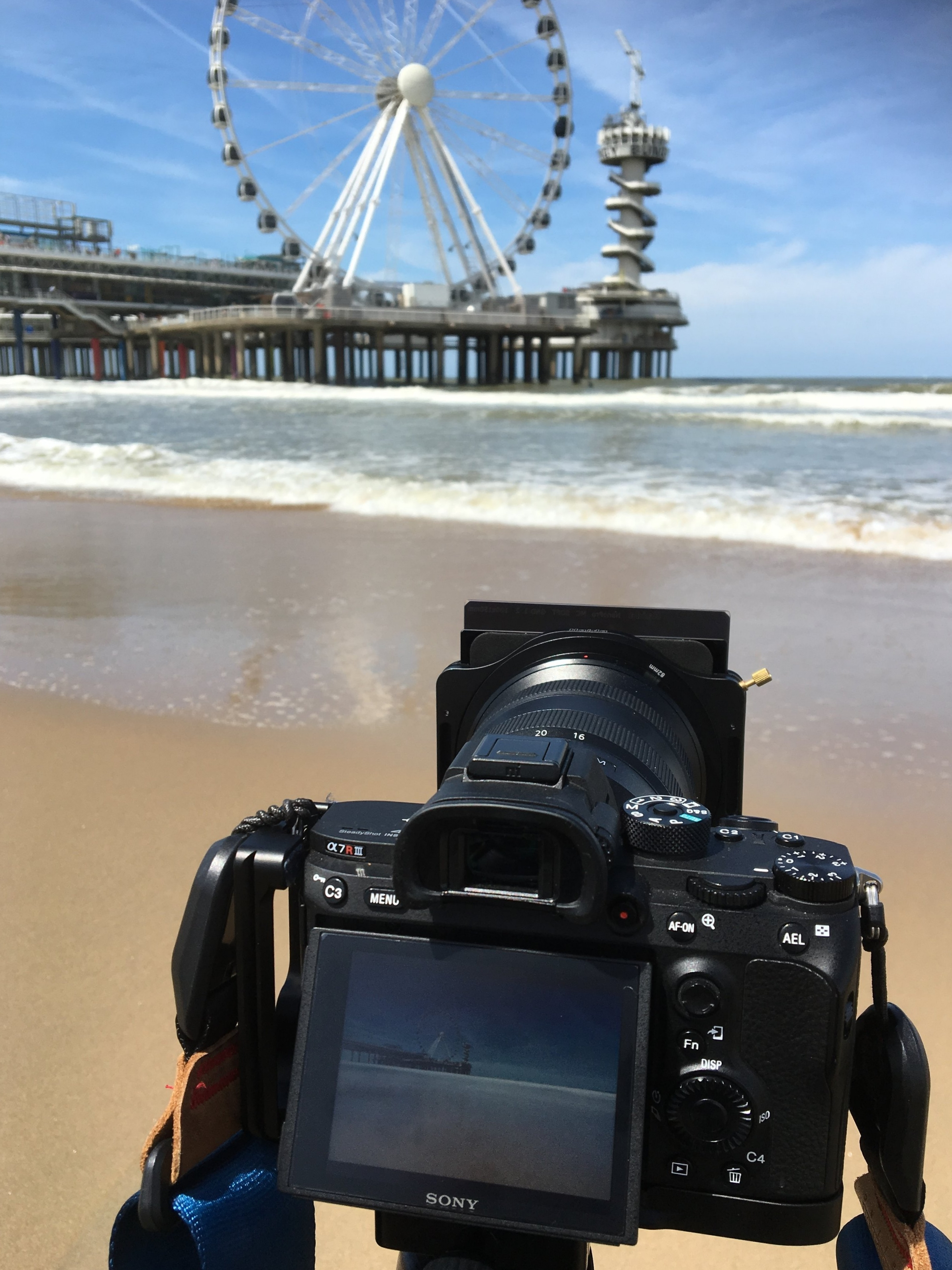 the Haida 100x100 filter system on my Sony a7riii at the beach of Scheveningen, Netherlands, as I was photographing long exposures