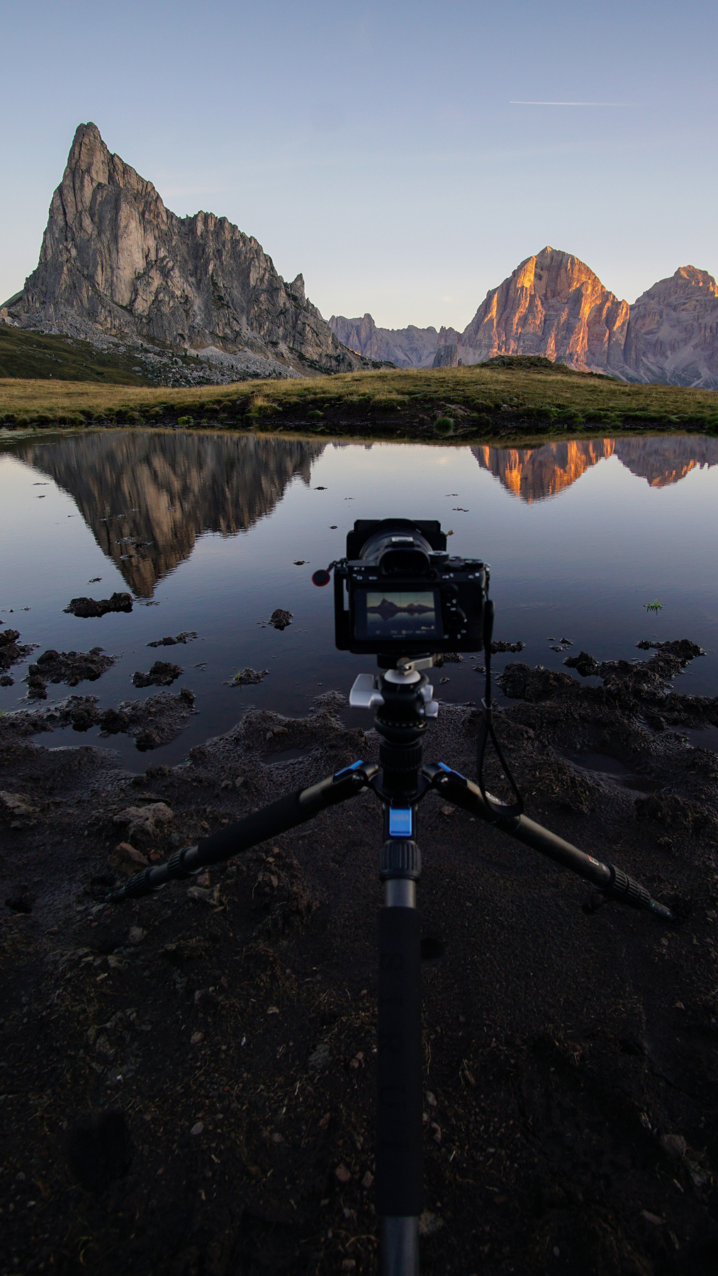 always with me: a set of filters. Here on location at Passo Giau, Italy.