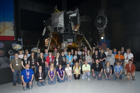 My #Moonbuggy #NASASocial group- photo via Flickr.com/photos/nasamarshall