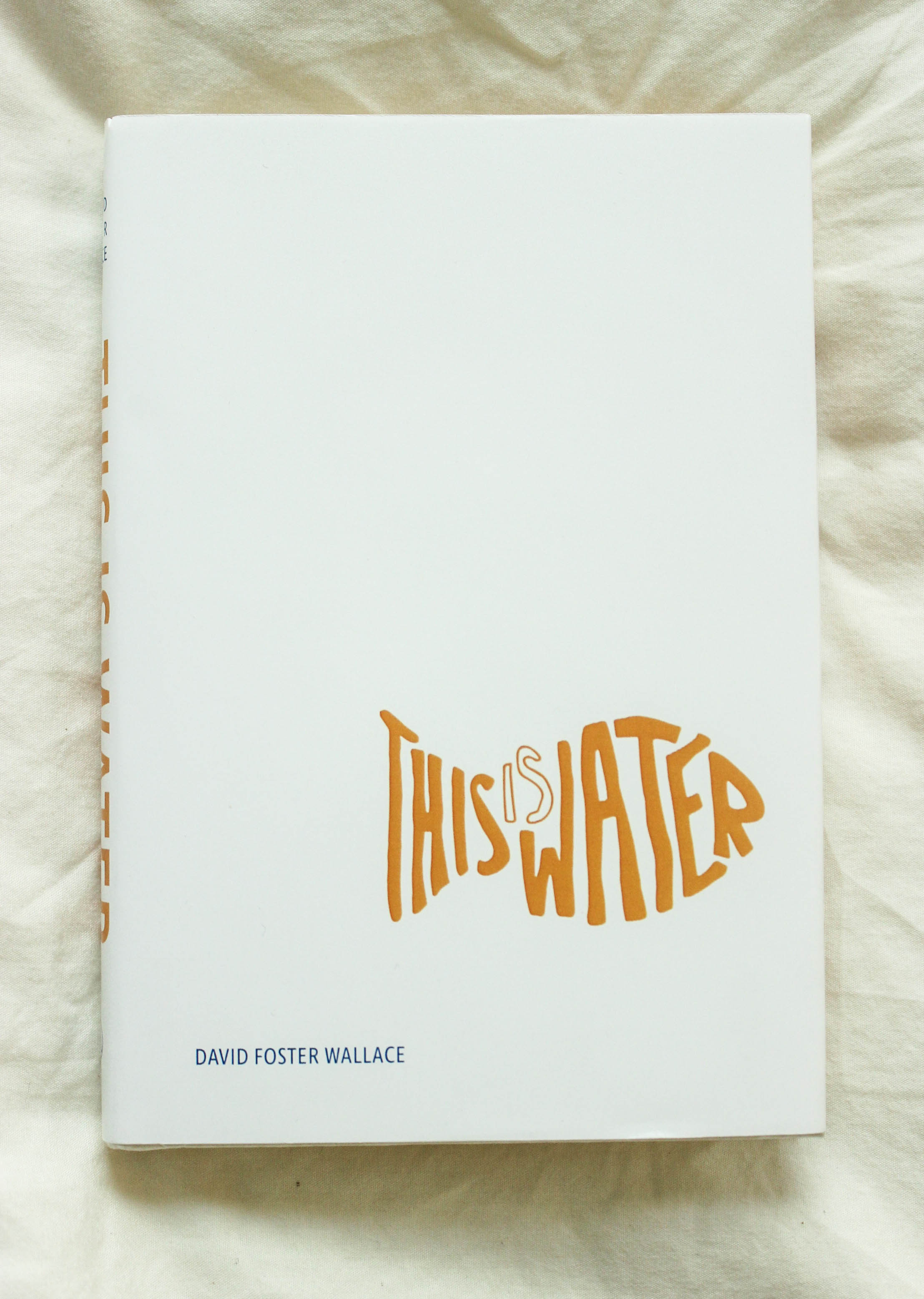 THIS IS WATER DUST JACKET   Layout Design and Typography