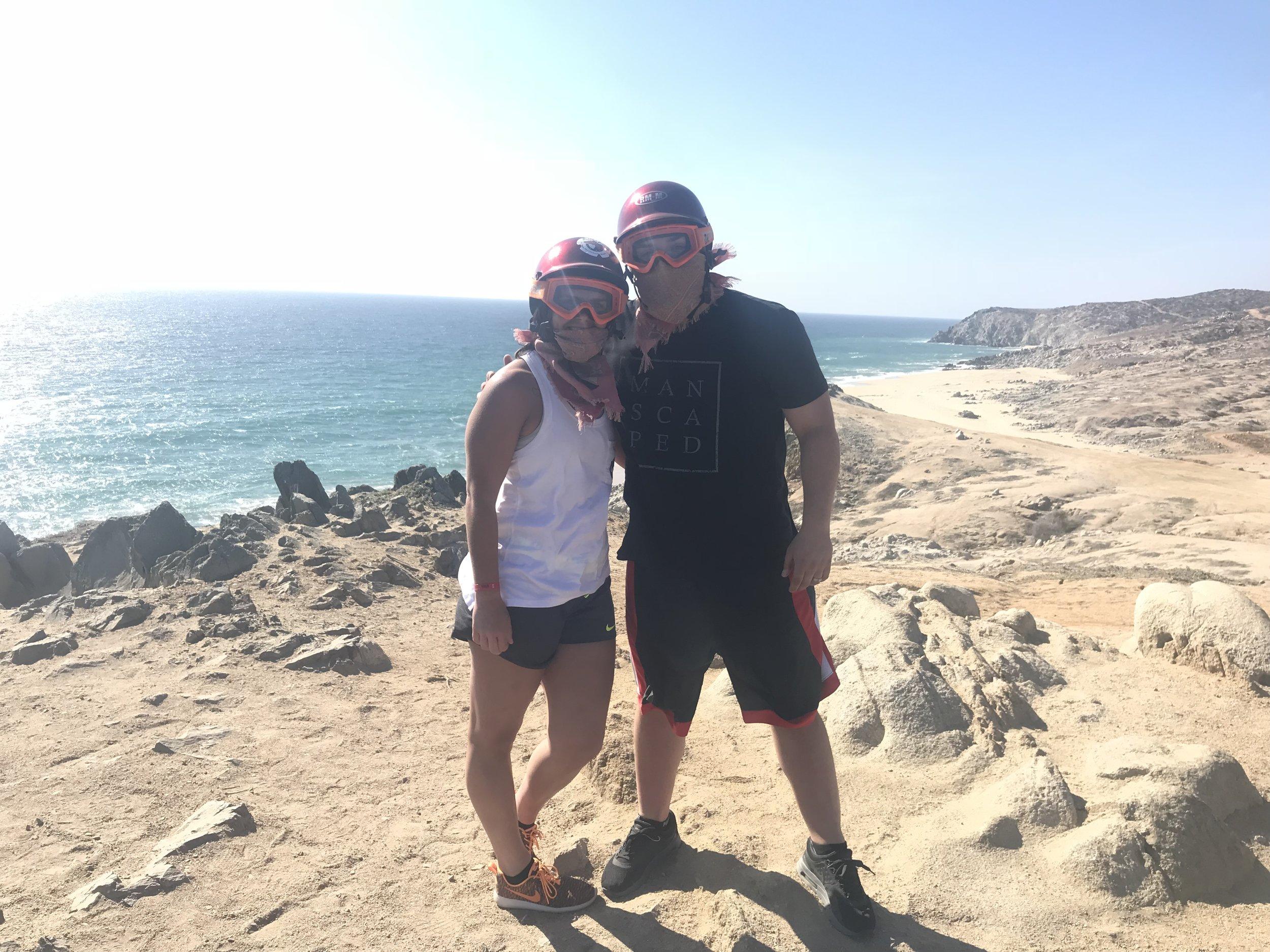 Ken and wife on honeymoon in 2018.