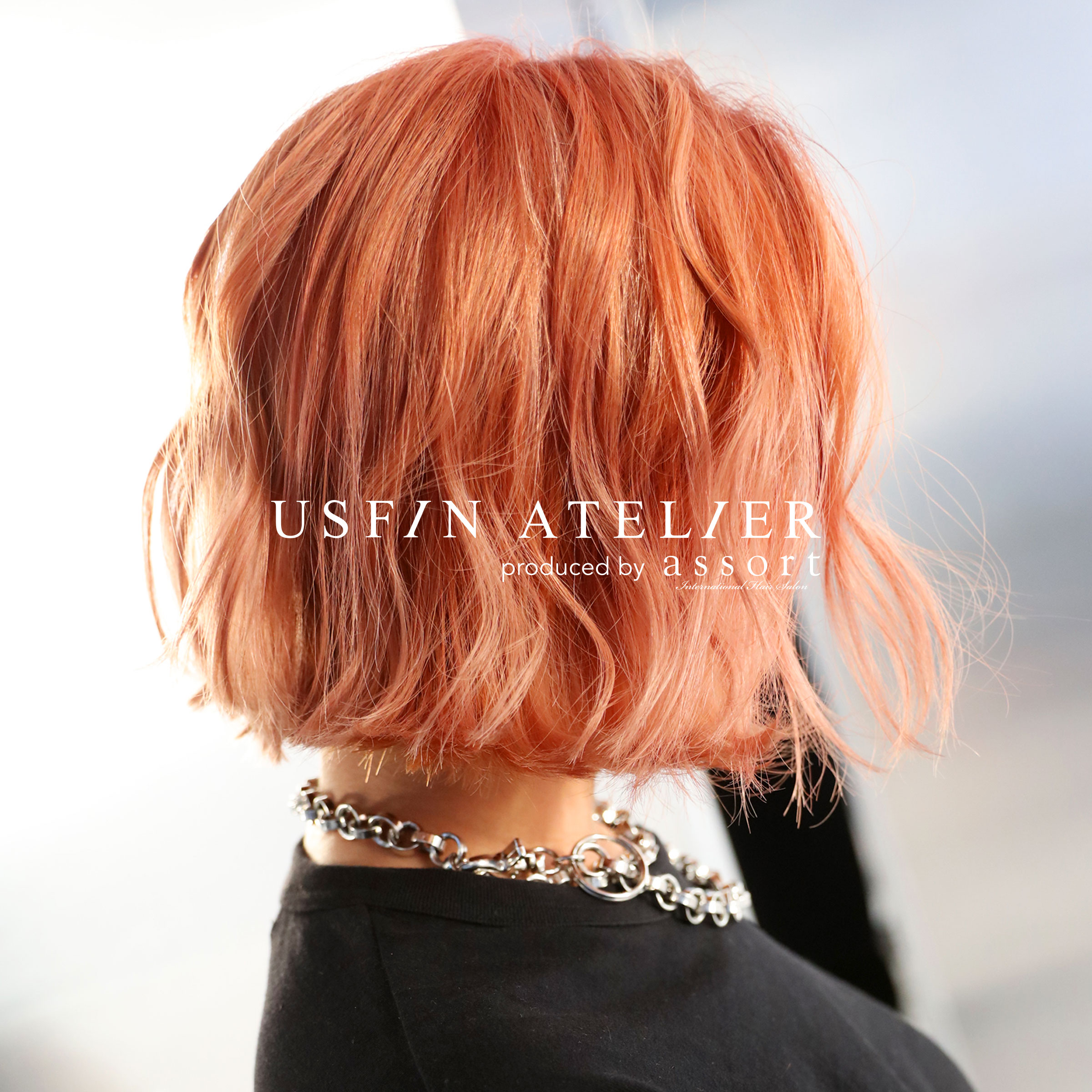 Soft peAch colour  - Menu: Bleach medium ($260), Second bleach ($90), Colour medium ($150), PCC Treatment (package price $80), Cut & style ($90)Total price: $530Time: approx. 4.5-5 hours