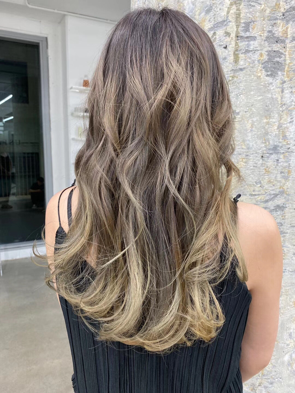 Balayage Hair Highlights Foils Gradient Colour   Balayage Asian ...