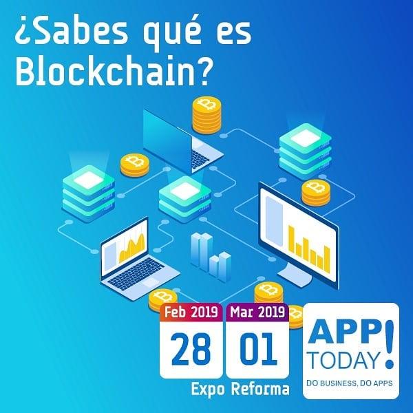 Asiste a #AppTodayMx para que aprendas todo sobre este tema, #blockchain #tecnologia