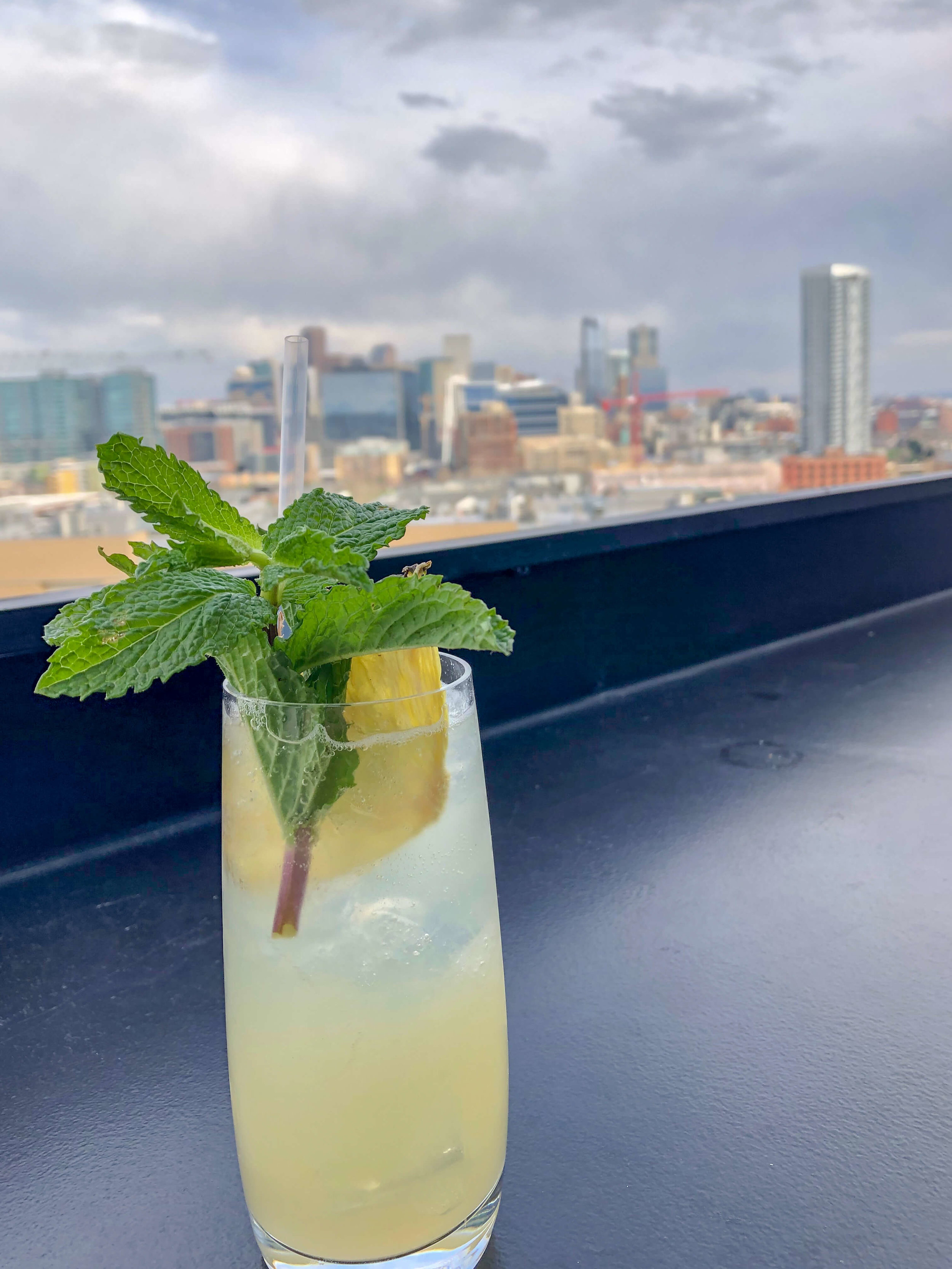Happy Hour Cocktail from the rooftop of El Five in LoHi