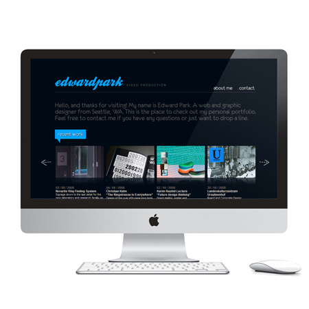 Edward Park VP (2003)   Seattle, WA  Online portfolio website for videographer Edward Park:.