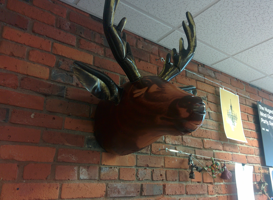 The obligatory imitation moose head