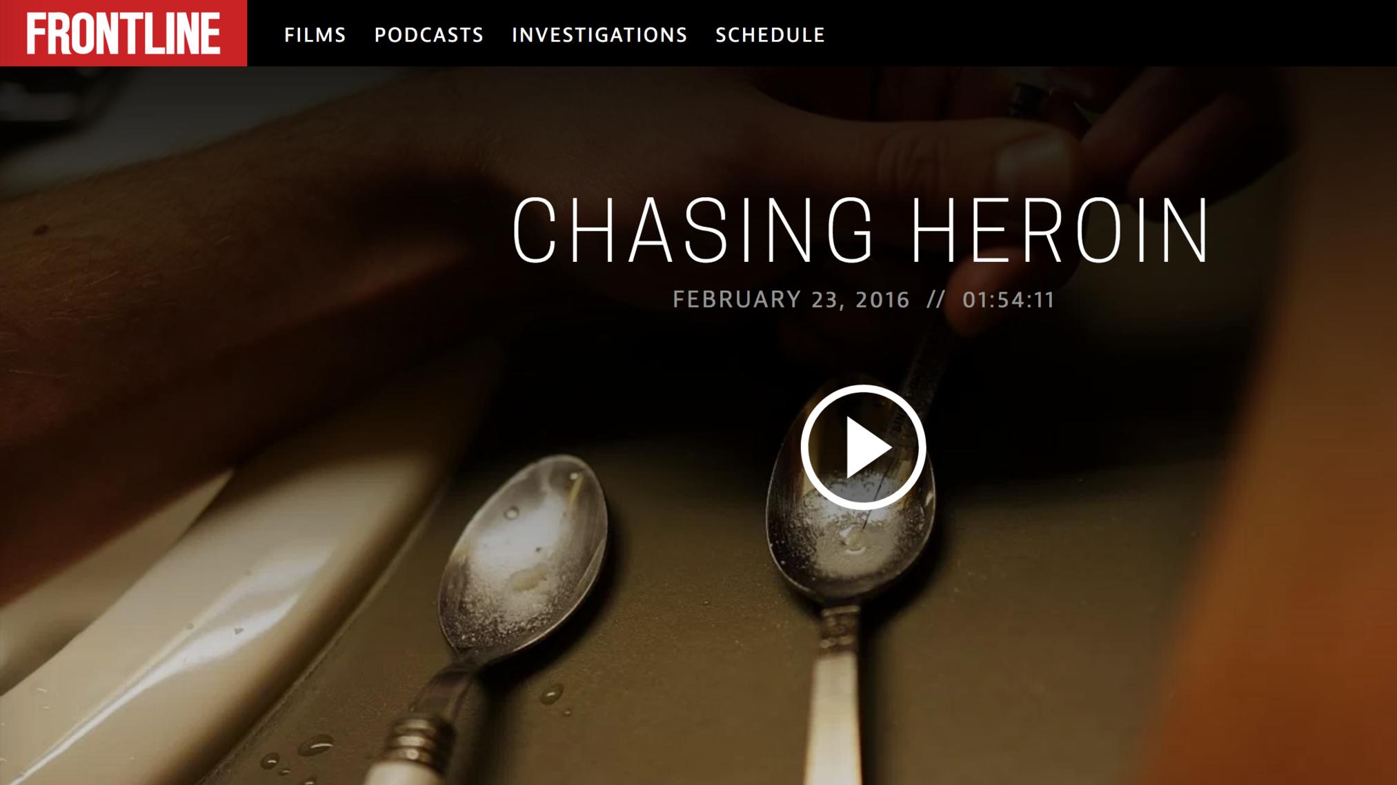 frontline: chasing heroin -
