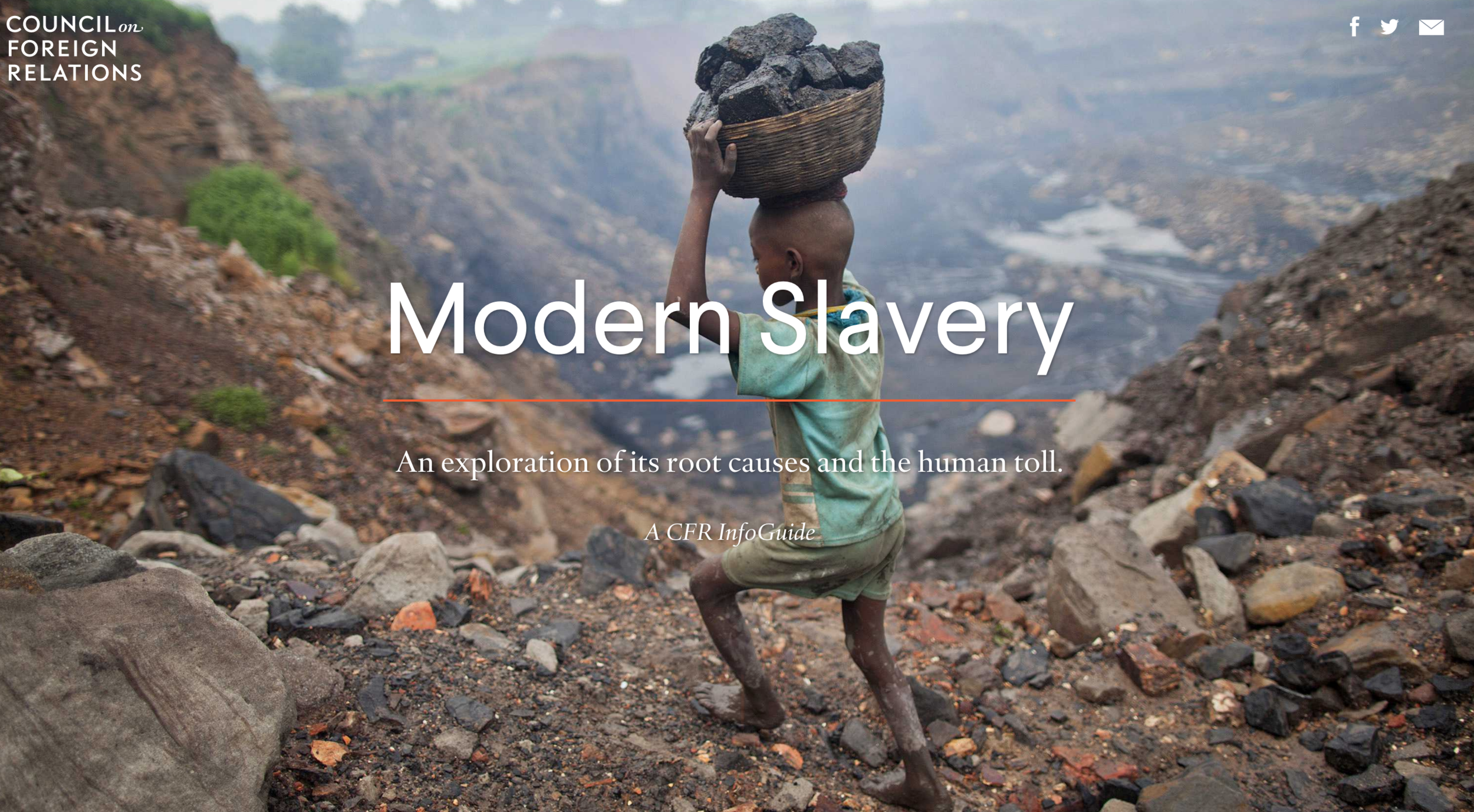Council on foreign relations:Modern slavery -