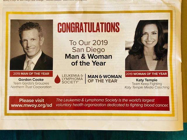 Thank you @sdbusinessjournal for highlighting the importance of cancer research @leukemialymphomasociety #fightbloodcancer Let's Keep Fighting!