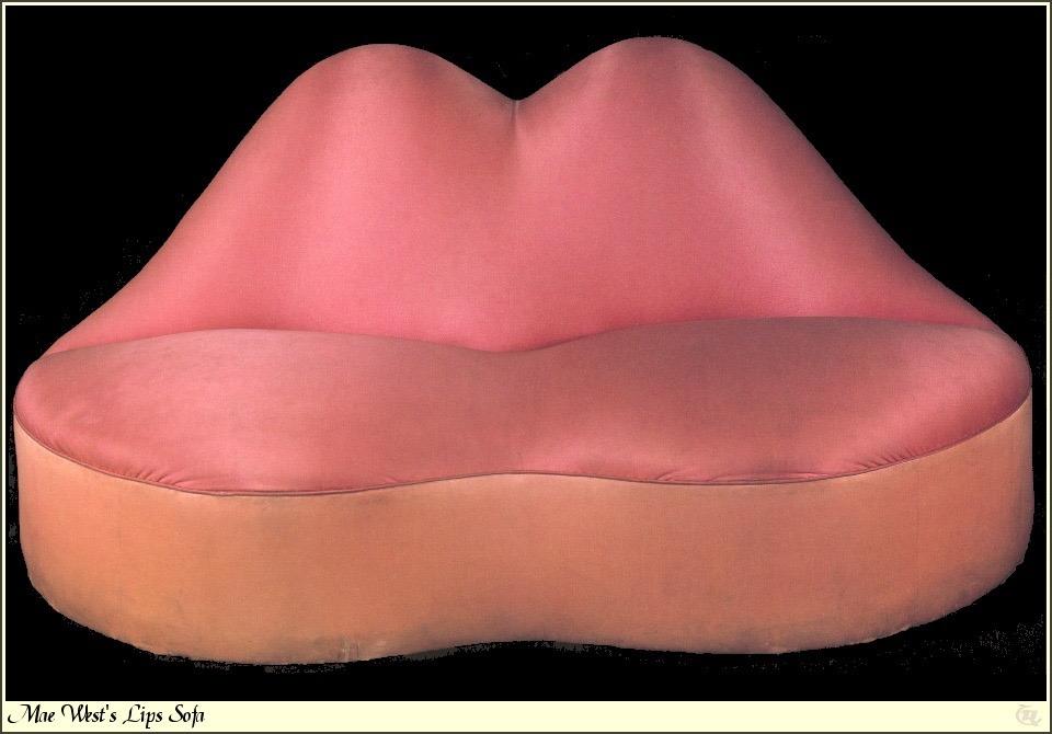 Mae west lips sofa, 1937 by salvador dali