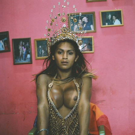 Sandra photographed by Iris Della Roca x Santeria Practioner, Cuba, photographed by Phyllis Galembo
