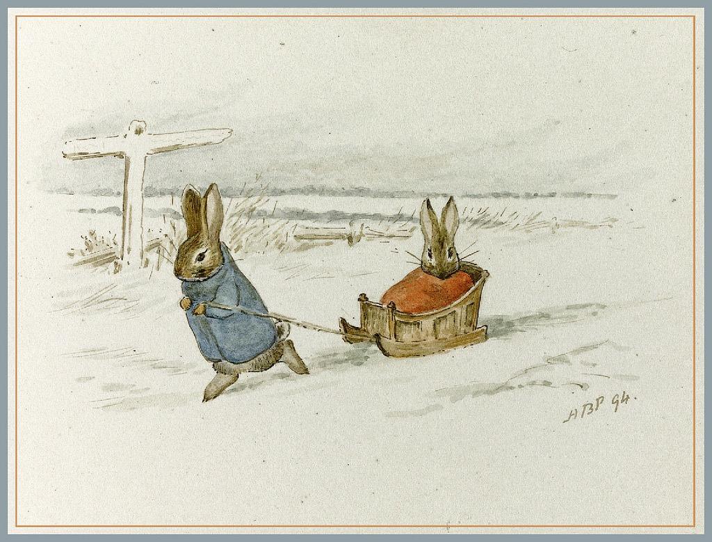 Lovely Christmas Illustration by Beatrix Potter