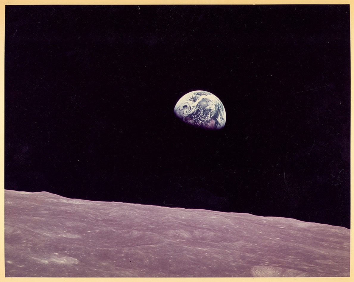 Earth and Moon December 1968, photographed during the Apollo 8 mission