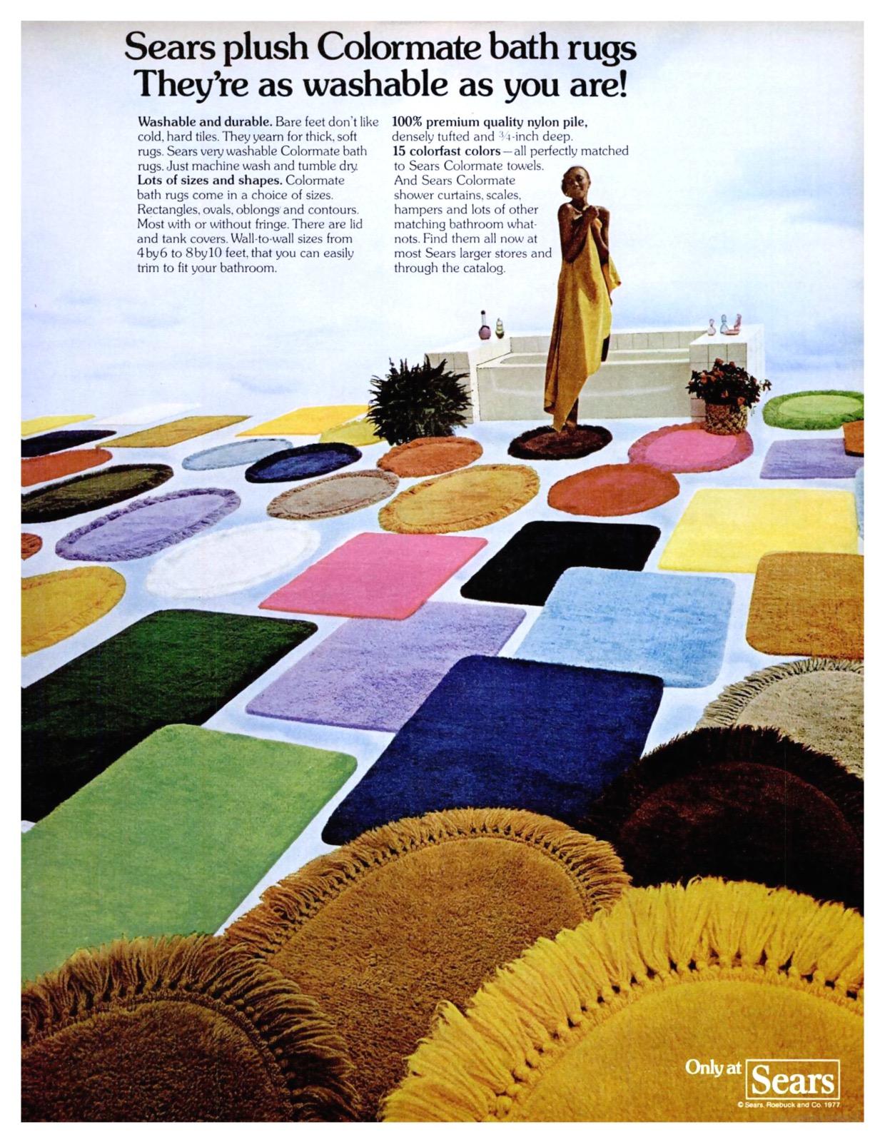 Sears Colormate Bath Rugs 1977