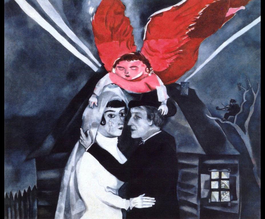 Wedding, Marc Chagall   Medium: oil,canvas