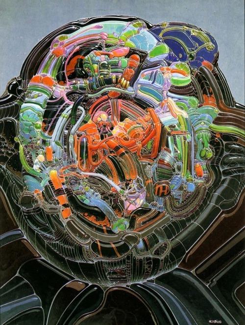 """One of French artist Moebius's """"organic"""" paintin"""