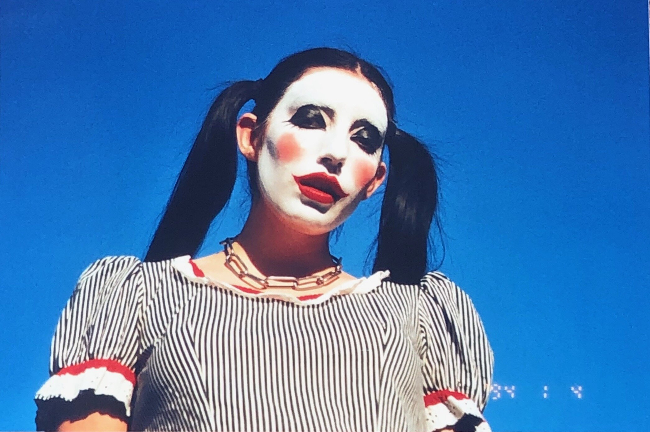 Romy as a mime, photographed by Maytal