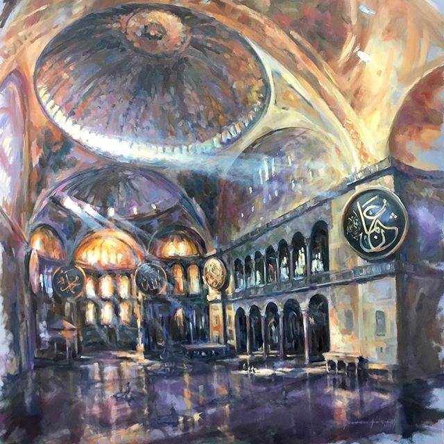 Just completed. A detail of 'Grand Space' Hagia  Sophia, oil on canvas 120x150 cm. @mestariaofficial @dubaiculture @desertart  @hagiasophiaofficial @istanbul @mestariaofficial @dubaiculture @alfahidineighbourhood @artforumuae #artuae #mikearnoldart #mestaria #alfahidihistoricalneighbourhood #dubaiart #dubai #uaeart #artuae #dubaiculture #dubailife #dubaicreek #hagiasophia #istanbul