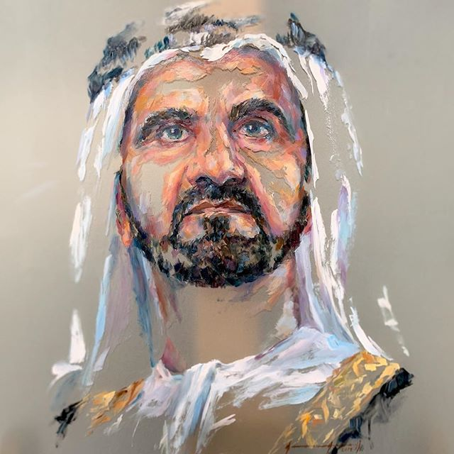 'Vision' completed. Oil-on-glass. 60x80 cm. @mikearnoldart @mestariaofficial @hhshkmohd @alfahidineighbourhood @hrhsheikhmohammedbinrashid @hamdansheikh @artforumuae @dubaiculture @latifamrm @latifamrm1 @emiratesroyalfamily #mikearnoldart #mestaria #dubaiculture #dubaiart #alfahidihistoricalneighbourhood #uaeart #sheikhmohammed #sheikhhamdan