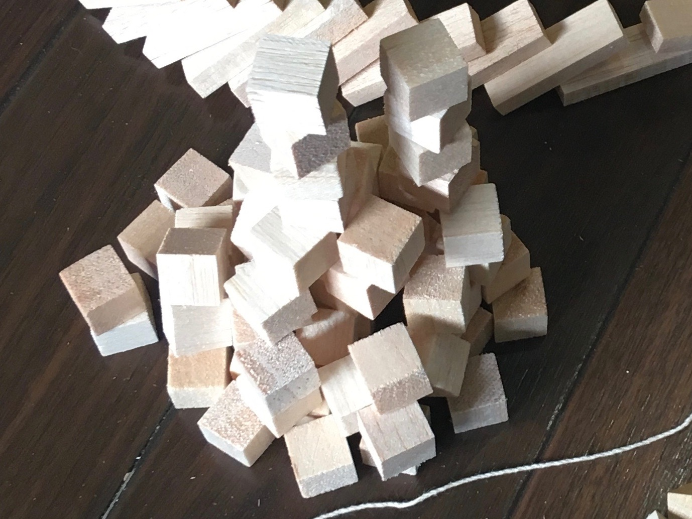 - This pile of wood blocks became the starting point of the first