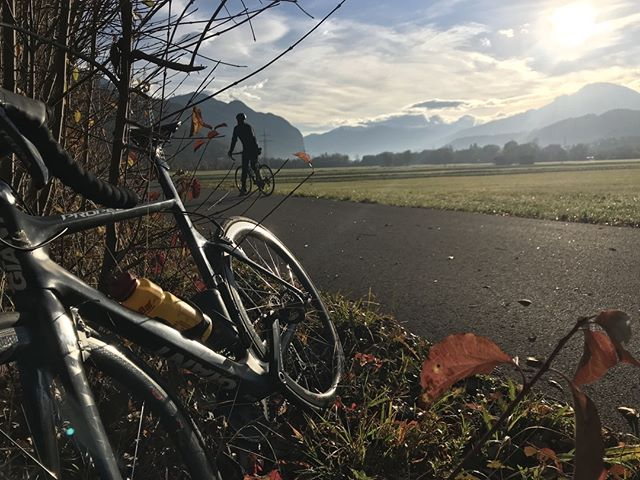 #morningmotivation from Dave's pre-work tarmac ride around #innsbruck. One more day until the #weekend and we are #holdingon ✊✊✊ #bikmo #ridebikmo #teambikmo #cycleinsurance #gearformore #lovebiking #roadcycling #roadbiking #roadie
