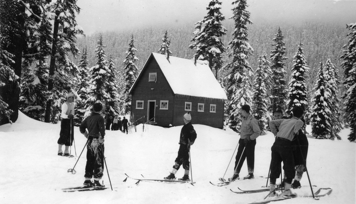 1920s - Skiing begins at Snoqualmie Pass