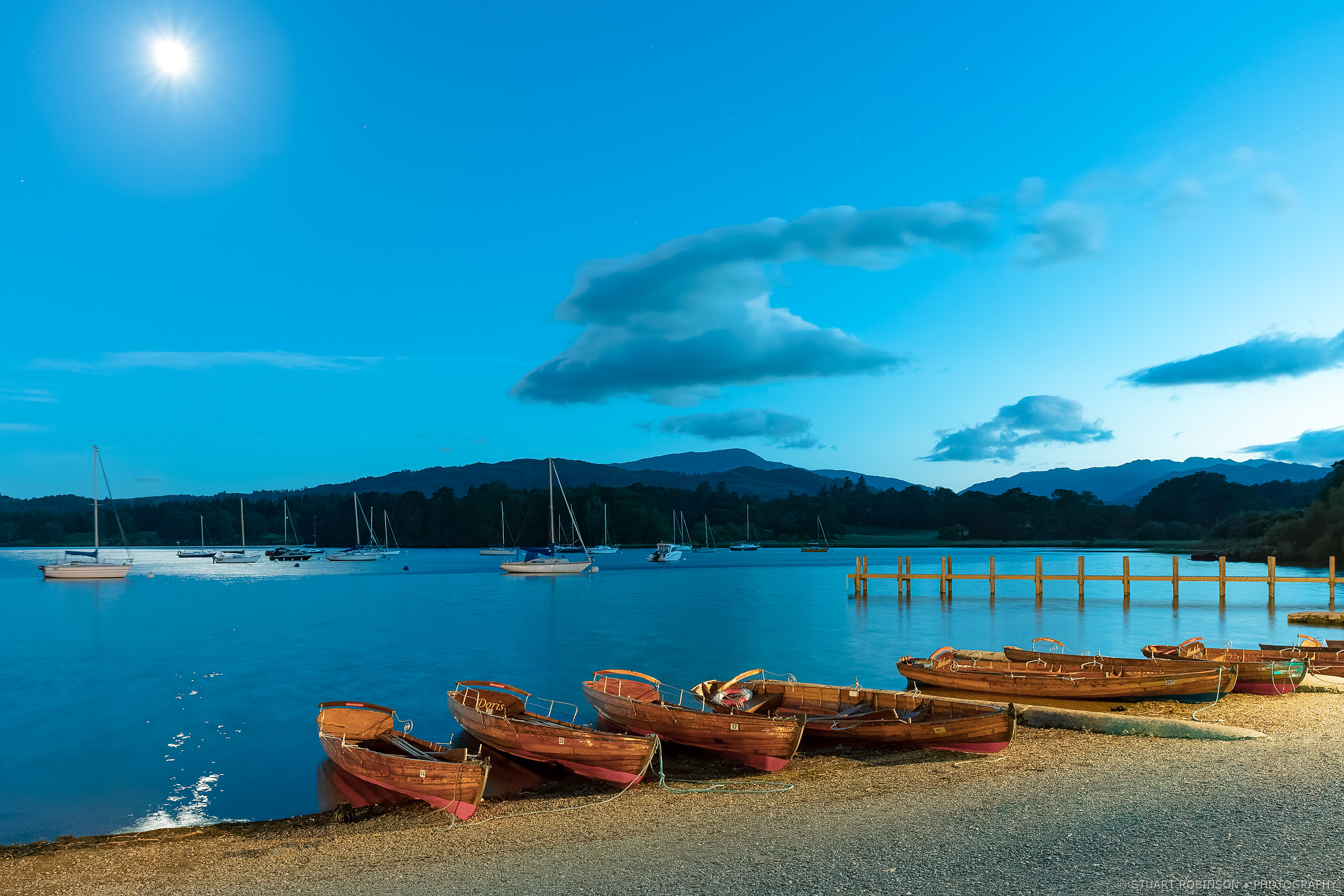 Waterhead, Windermere, Blue Hour  - Canon EOS 5Ds, EF 24-70mm f2.8L II, 28mm, 3.2 sec at f/7.1, ISO 3200