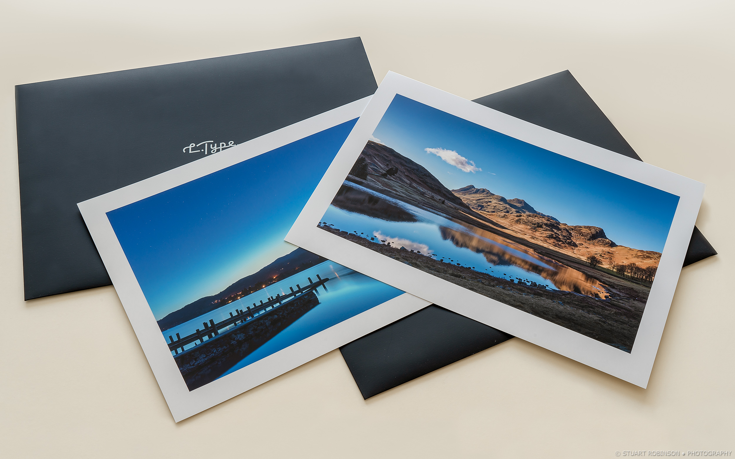 L.Type premium photographic prints, A3 with borders