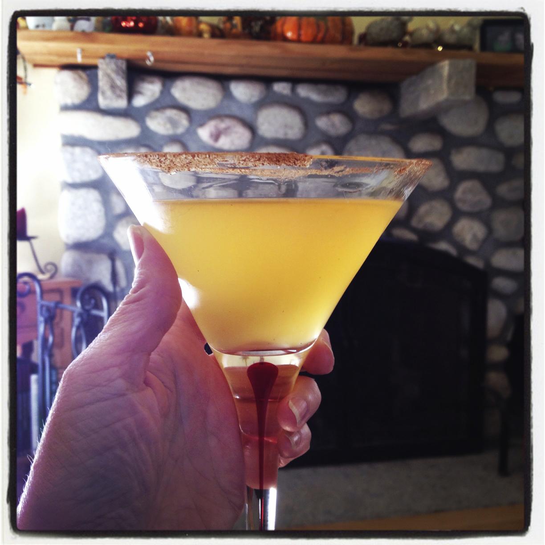 Meg made us Caramel-Apple Martini's!  They were DE-LICIOUS!  :)
